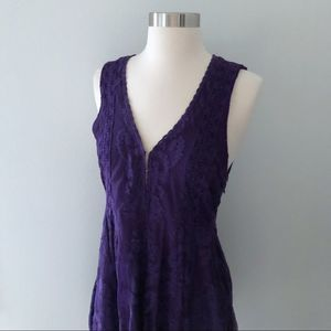 Free People Reign Over Me Sleeveless Purple Dress